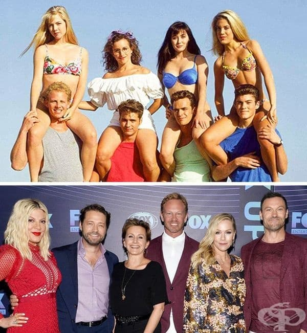 """""""Бевърли Хилс 90210"""", 1990 и 2019 г. 18 години по-късно каналът Fox реши да рестартира проекта. Актьорите отново се събраха на сцената и продължават да примамват феновете си със снимки и видеоклипове на процеса."""