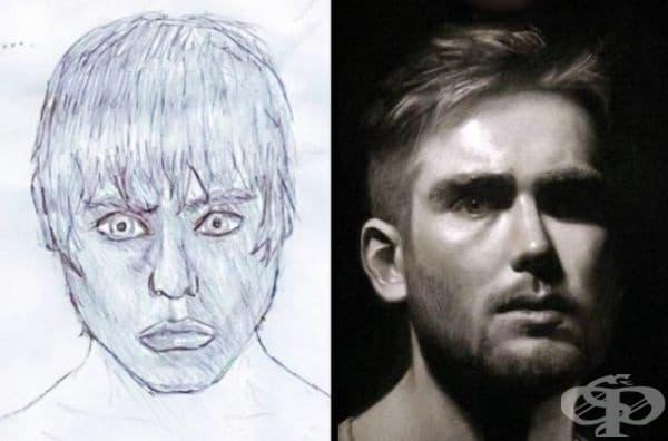 Автопортрет на художника на 13 и на 23 години.