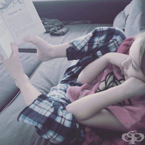 """""""Ръцете ми се уморяват толкова много, докато чета."""""""