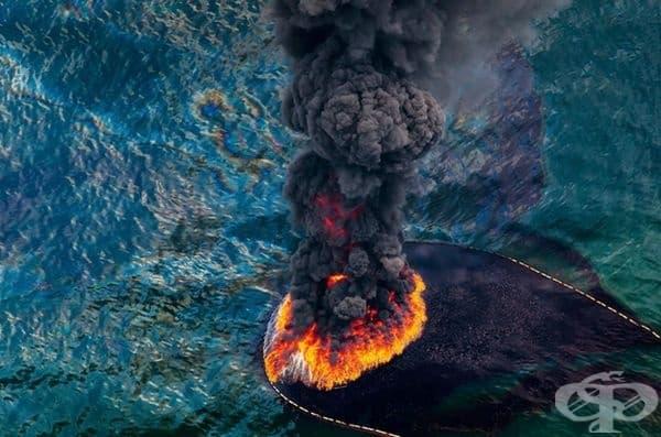 Пожар на нефтена платформа в Мексиканския залив през април 2010 г.