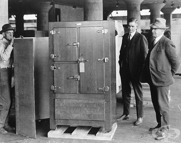 Един от първите хладилници - Frigidaire Model B-9, 1921 г.
