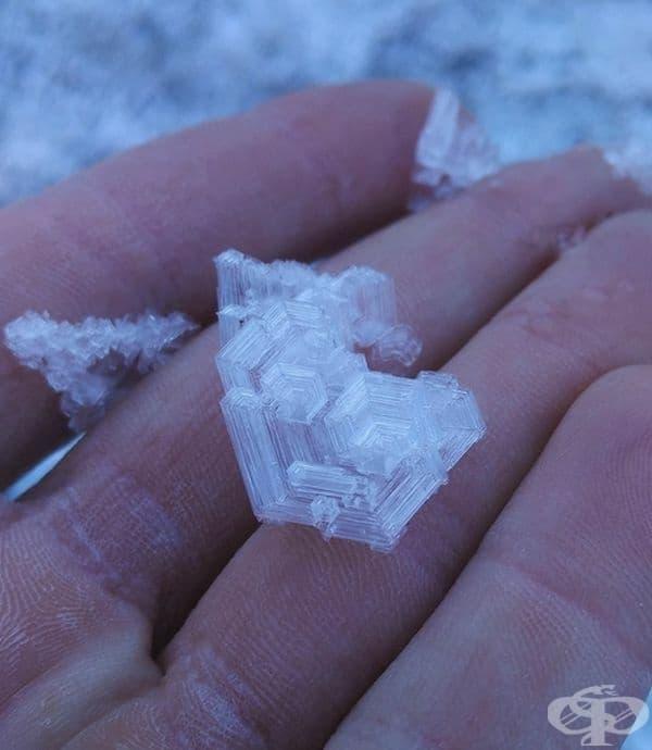 Необичайни ледени кристали.
