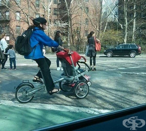 Велосипед-количка. Компанията Taga Bikes проектира безопасно и удобно решение както за майките, така и за техните деца.