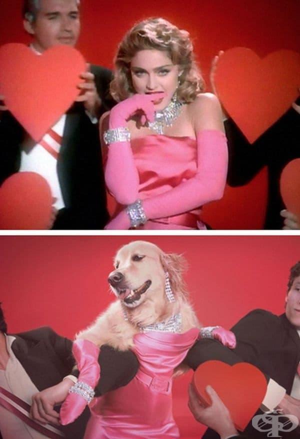 """Material Girl"", музикално видео."