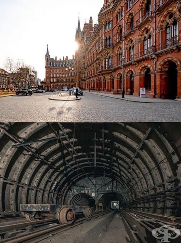 """Англия: Исторически хотел """"Ренесанс"""". Намира се над изоставената железопътна част на Лондонския пощенски музей, работил между 1927г. – 2003 г. Използването му е било твърде скъпо-1,2 млн. паунда стерлинги на ден и затова днес се приема като музей."""