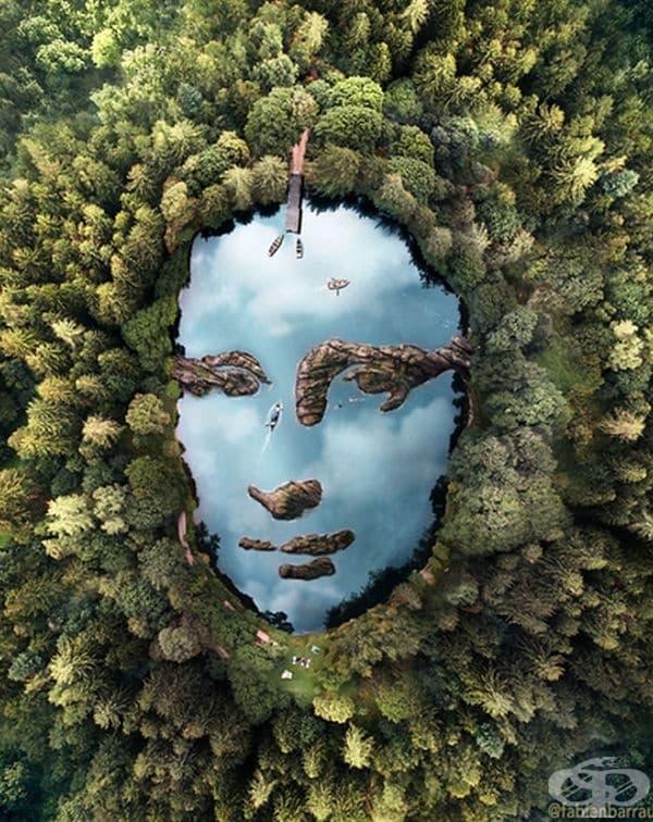 Артист се двъхновява от лица, които не са се появили естествено