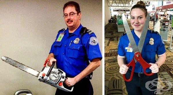 Тези артикули бяха конфискувани от пътниците на летищата.