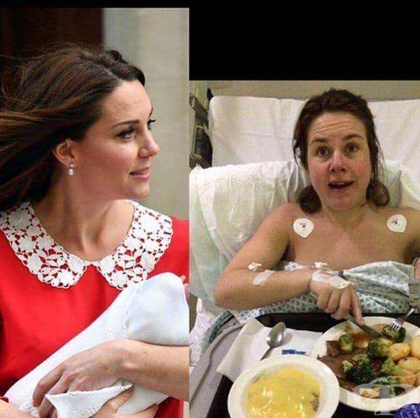 Няколко часа след раждане жената огладнява зверски.