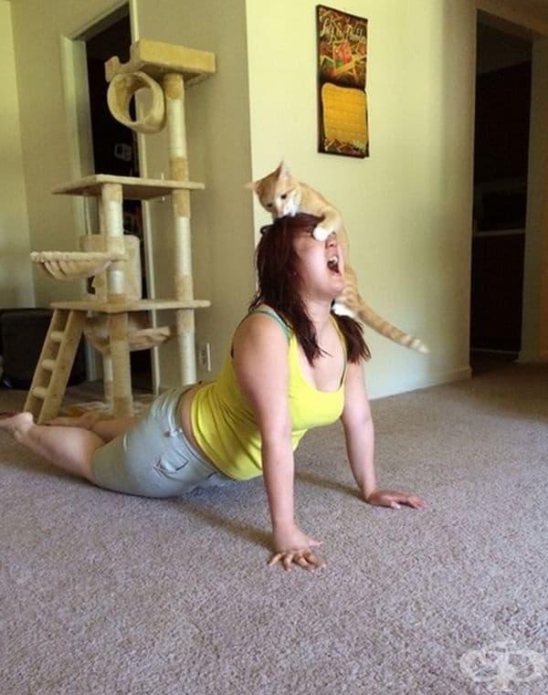 Нова йога поза.