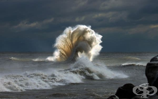 Вълна в езерото Мичиган