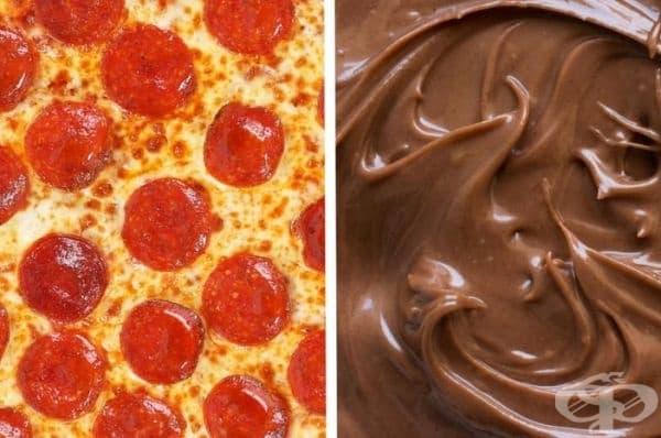 Пица и Нутела. Пробвали ли сте комбинацията между шоколад и топено сирене. Е, тази е нещо подобно.