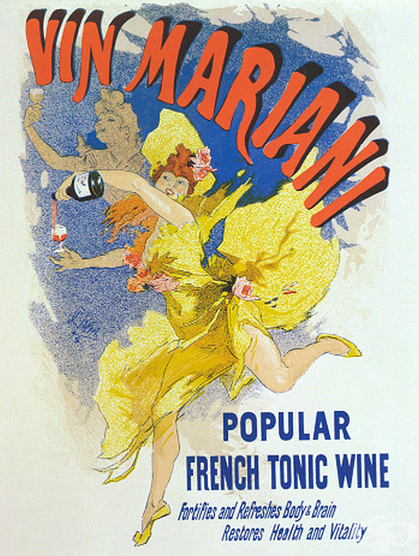Тоник Vin Mariani е представен през 1863 г. като вино и като общо лекарство, обещаващо лечението на всякакво неразположение. Той бързо се превръща в сензация. Причината за успеха - напитката съдържа около 6 mg кокаин на течна унция вино.