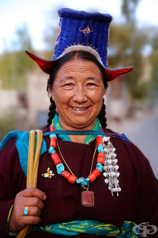 Жена от област Ладак, Индия.