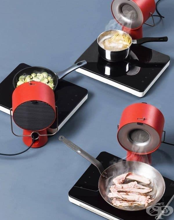 Портативен кухненски аспиратор. Използва се в малки кухни, където няма възможност за поставяне на традиционните абсорбатори.