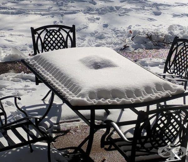 Възглавница или равиола? Не, пухкав сняг!