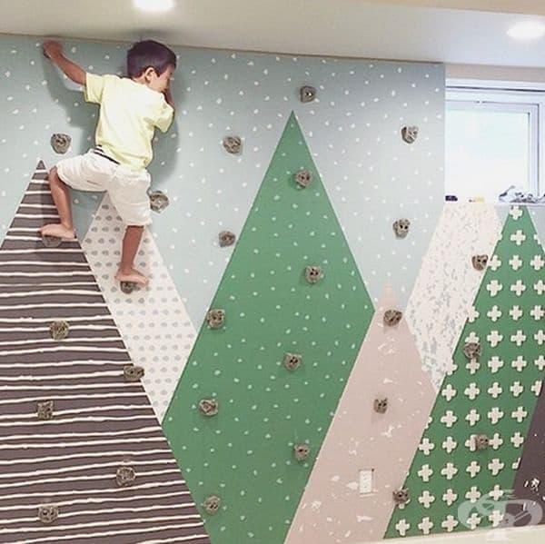 Идеалната стена за онези, които обичат да се изкачват навсякъде.