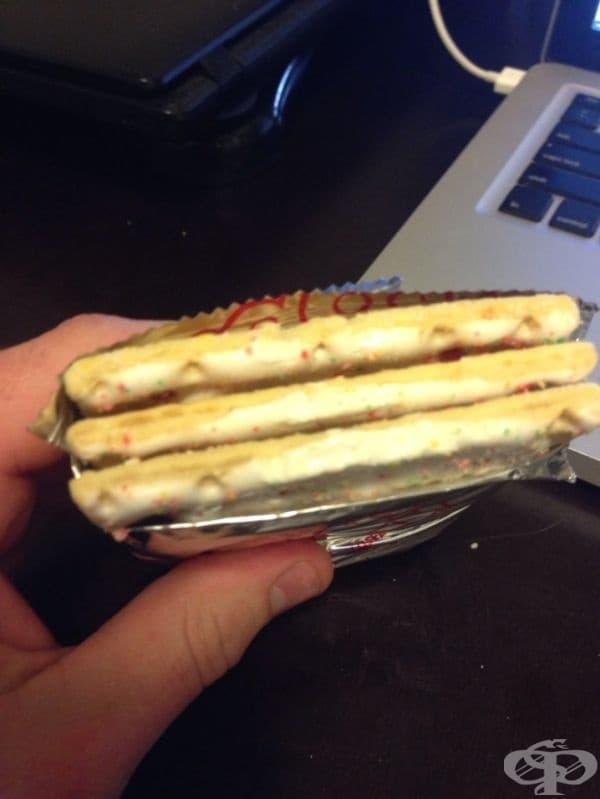 Дори съдбата е против вашата диета, след като намирате три бисквити в пакета вместо една.