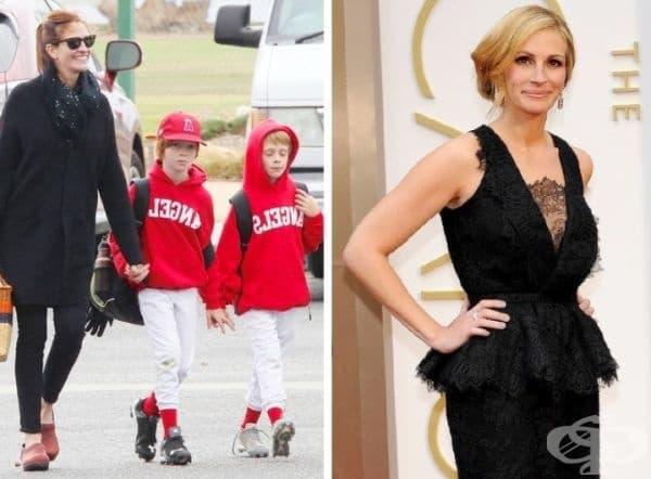 """Джулия Робъртс и нейният съпруг Даниел Модър имат 3 деца. Актрисата неведнъж е признавала, че семейството е най-важно за нея. През 2017 г. списание """"People"""" обяви за 5-ти път Джулия Робъртс за най-красива жена в света."""