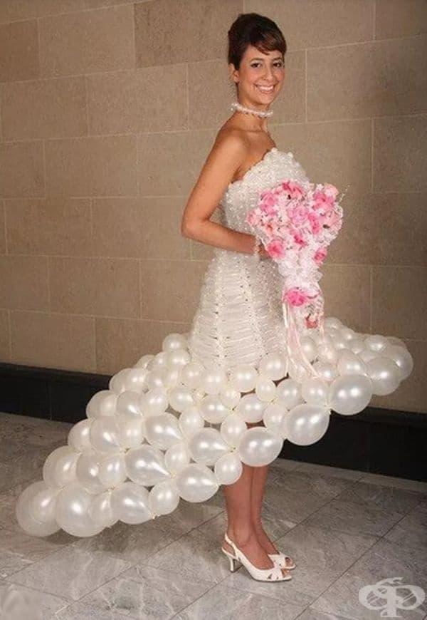 Сватбена рокля от балони 2.