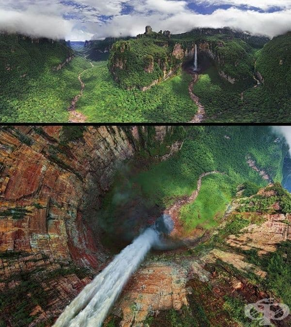 Драконовите водопади, местност, позната още като Чурун-Меру, Венецуела.