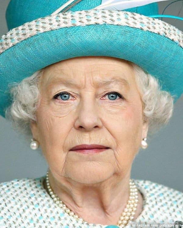 Кралица Елизабет II и Ангела Меркел