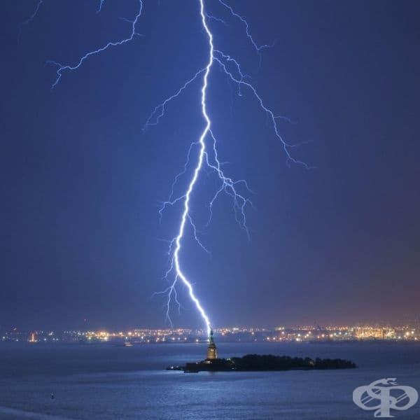 Мълновиден страйк, Ню Йоркски залив.