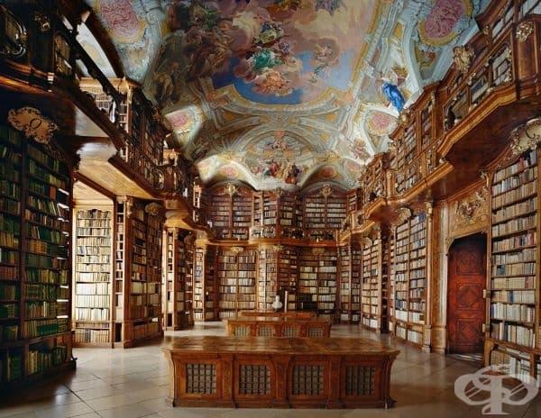 """Библиотеката в манастир """"Свети Флориан"""", Австрия."""