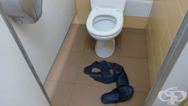 Интерсно! Защо са си оставили бельото и джапанките?