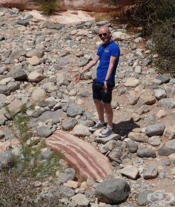 Когато сте на разходка и видите камък, приличащ на бекон, бързо може да огладнеете.
