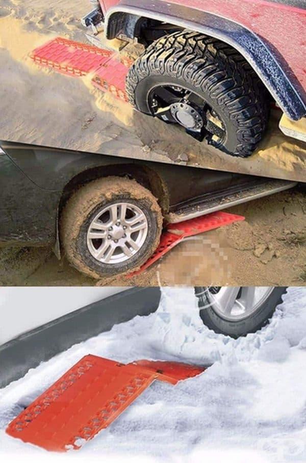 Сгъваема платформа, която помага за излизане от кал или сняг.