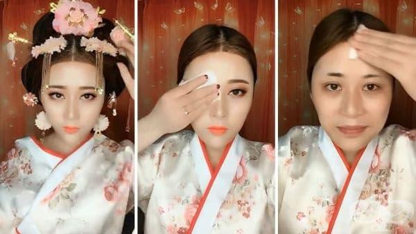 20 азиатски момичета с грим и без него – поразителна разлика