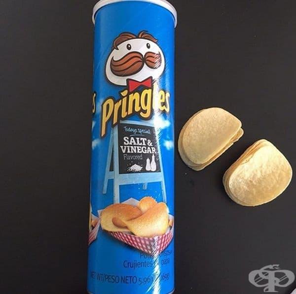 Чипс с вук на сол и оцет. Според някои хора вкусът е малко прекалено екстремен и кисел, но много потребители го харесват. Можете да закупите тези чипове в САЩ и в някои европейски страни.
