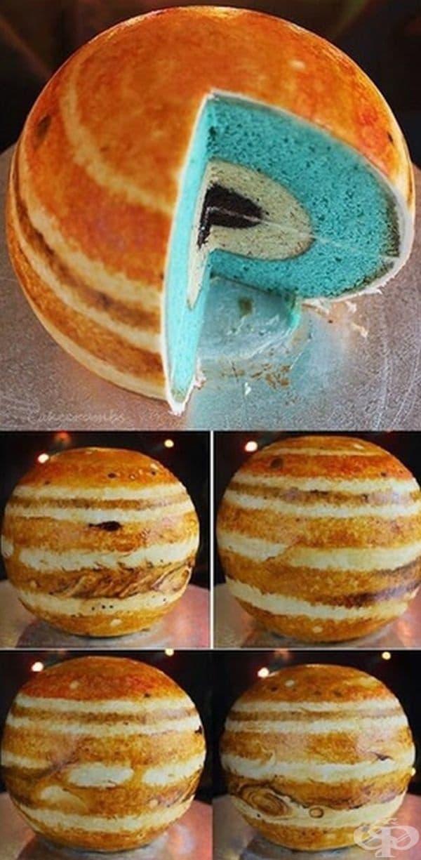 Сладкиш във вид на Юпитер.
