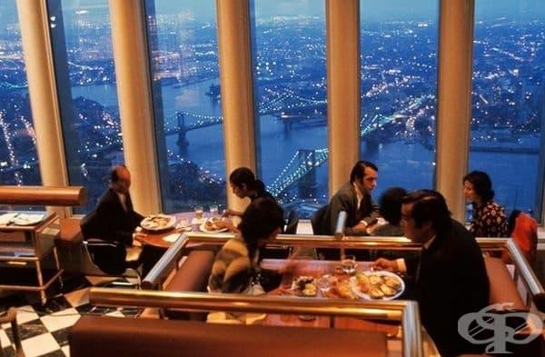 Вечеря в ресторант Windows On The World  на последния 107 етаж в Световния търговски център (Tower One), Ню Йорк, 1993 г.