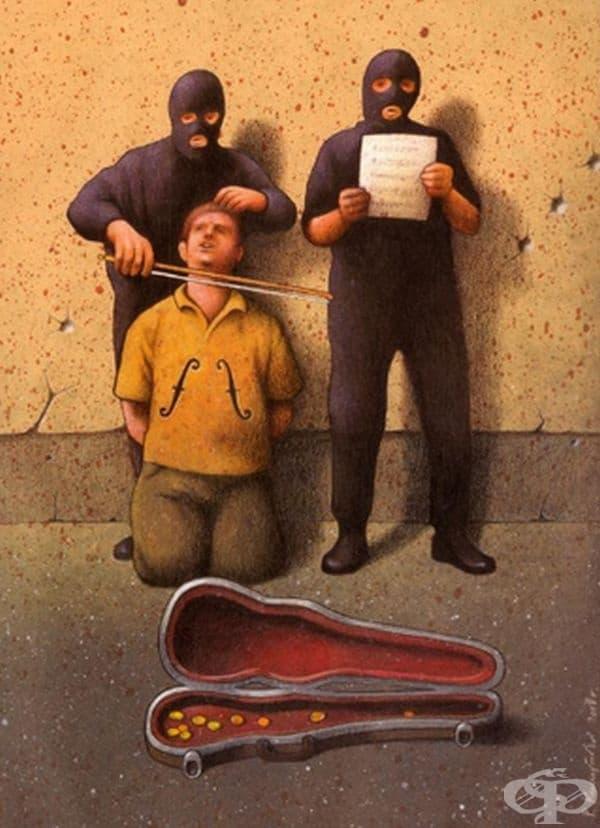 Изкуство, вдъхновено от затворници.