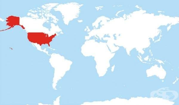 Всички държави, които използват формата MDY формат.