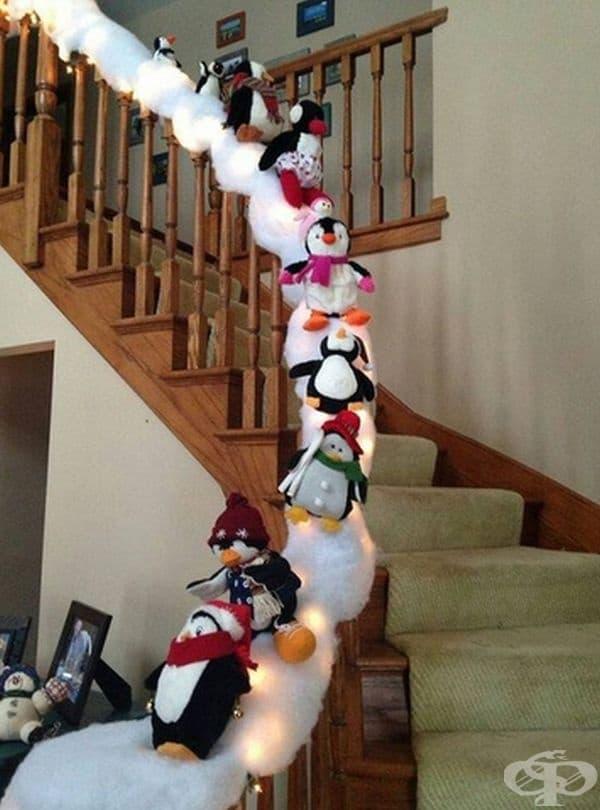 Декориран парапет на стълбище.