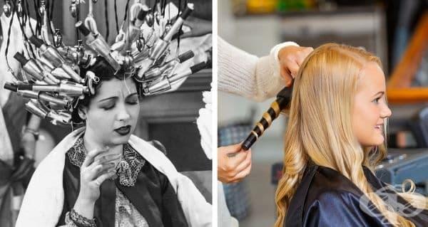 Оформянето на косата преди и сега.