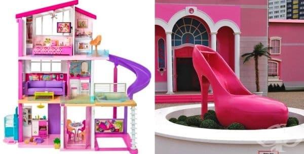 """Къщата на Барби. Разположена е във Флорина на площ от  10 000 кв. м. Известна е като """"Barbie, the Dreamhouse Experience""""."""