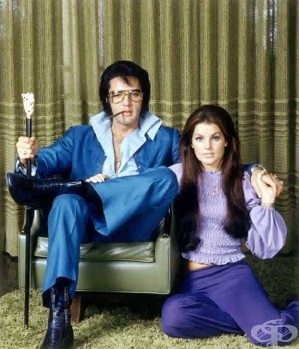 Елвис и Присила Пресли, 1971.