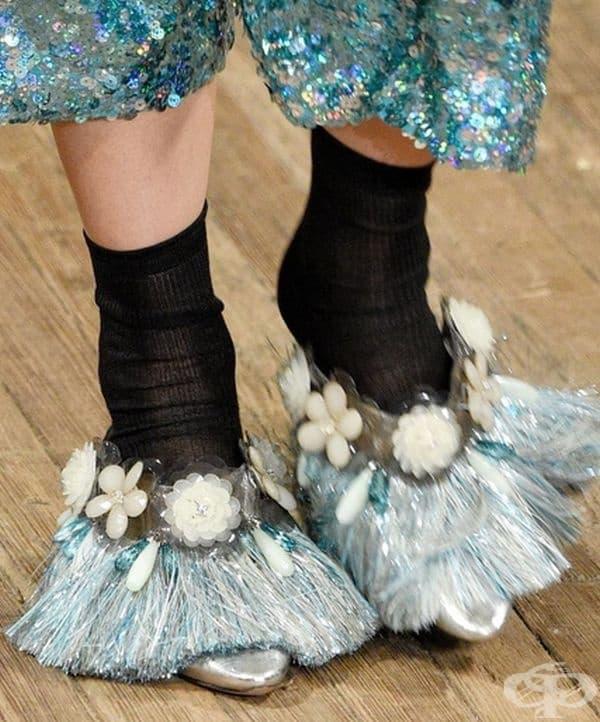 Без чорапи тези обувки нямаше да са така ефектни.