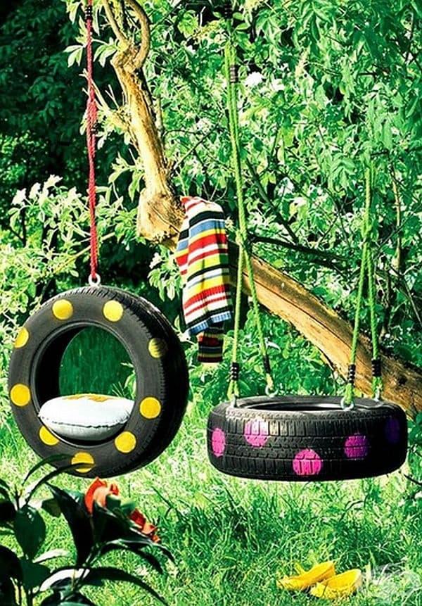 Помните ли люлклите от автомобилни гуми в детството?