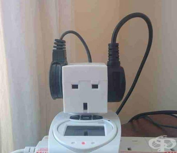 Този пич слуша музика.
