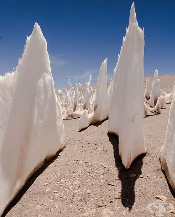 Явлението е познато като Calgaspores, състоящо се от сняг и лед.