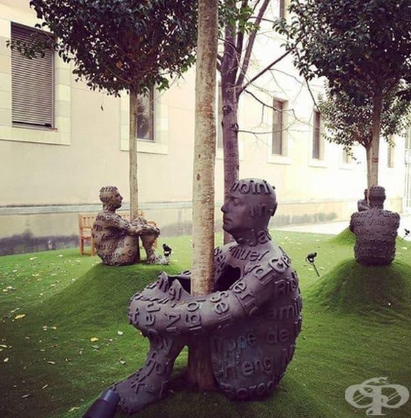 """Скулптурите от поредицата """"Сърцата на дърветата"""" на Жауме Пленса могат да се видят в различни градове на света. Бронзовите фигури, които са малко по-големи от тези в реален размер, обхващат дървета с ръце и крака. Не изглеждат ли сюрреалистични?"""