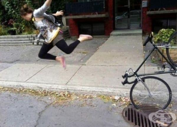 Дали след този инцидент ще продължава да кара велосипед?