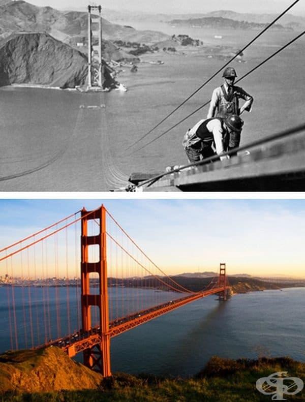 Мостът Голдън Гейт, Сан Франциско, САЩ. Строителство: 1933-1937 г.