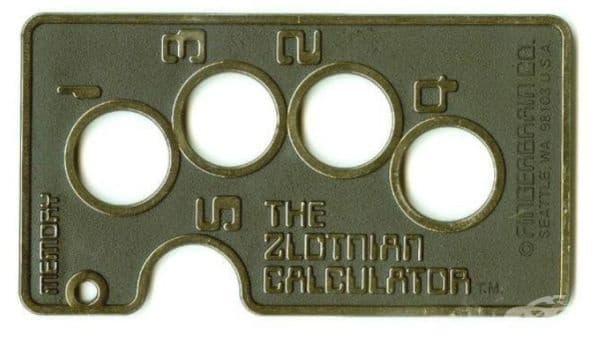 Калкулатор за пръсти. Състои се от 2 пластини, захванати помежду си. Пресмята се чрез прехвърляне на пръстите.