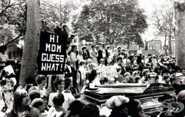 Първият гей парад във Филаделфия, юни 1972.