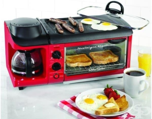 Уред за зазкуска 3 в 1. Успешно заменя няколко приспособления и закуската е бързо приготвена.